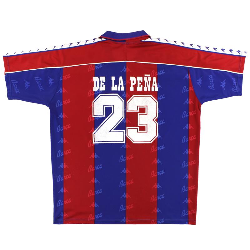 1992-95 Barcelona Kappa Home Shirt De La Pena #23 XXL