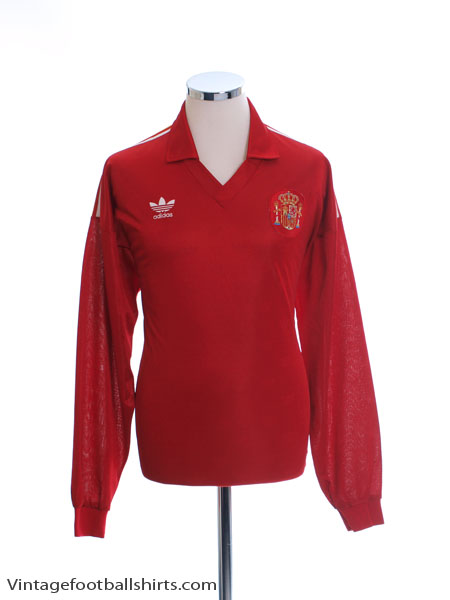 1992 Spain Match Issue Home Shirt L/S #17 L