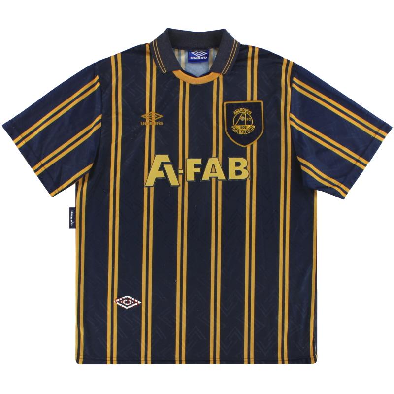 1993-94 Aberdeen Umbro Away Shirt XL
