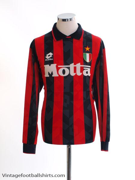 1993-94 AC Milan Home Shirt L/S L