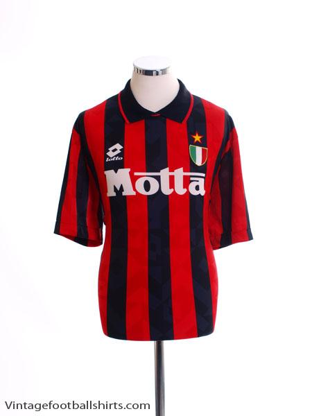 1993-94 AC Milan Home Shirt *Mint* L