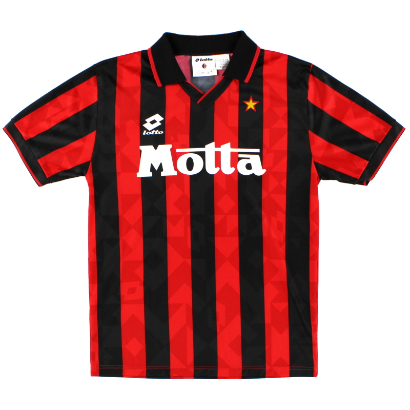 1993 94 Ac Milan Home Shirt Mint M For Sale