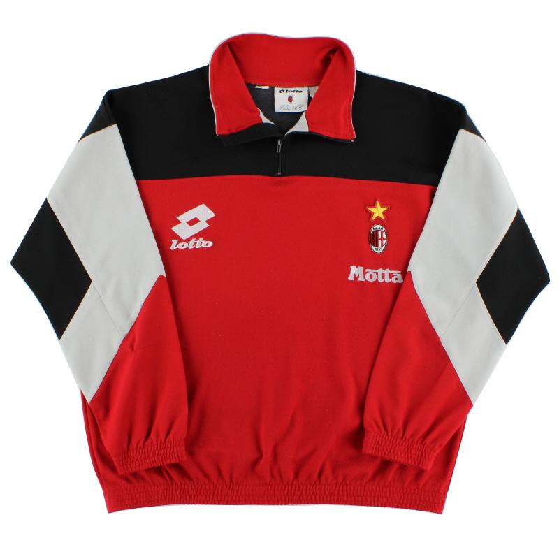 1993-94 AC Milan Lotto 1/4 Zip Drill Top XXL