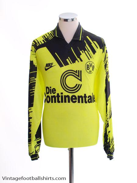 1993-94 Borussia Dortmund Home Shirt L/S L