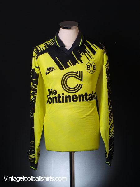 newest ccfd5 a4b65 1993-94 Borussia Dortmund Home Shirt L/S XL for sale