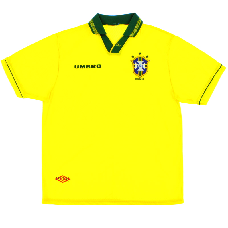 1993-94 Brazil Home Shirt XXL