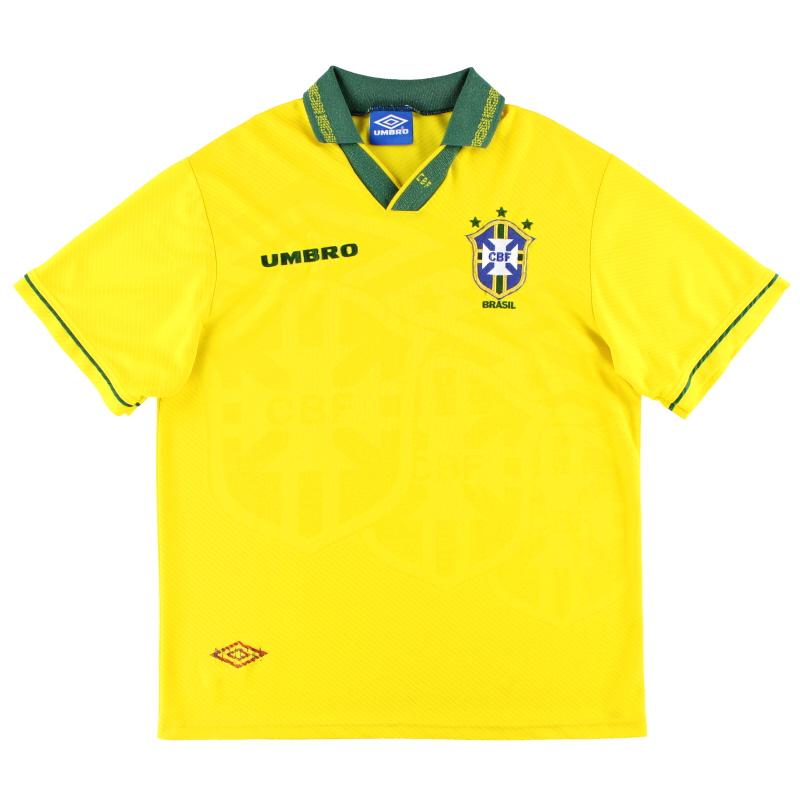 1993-94 Brazil Umbro Home Shirt XL