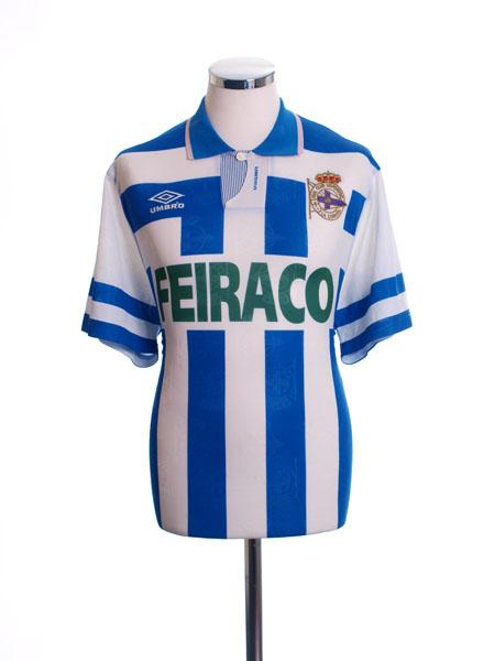 1993-94 Deportivo Home Shirt L