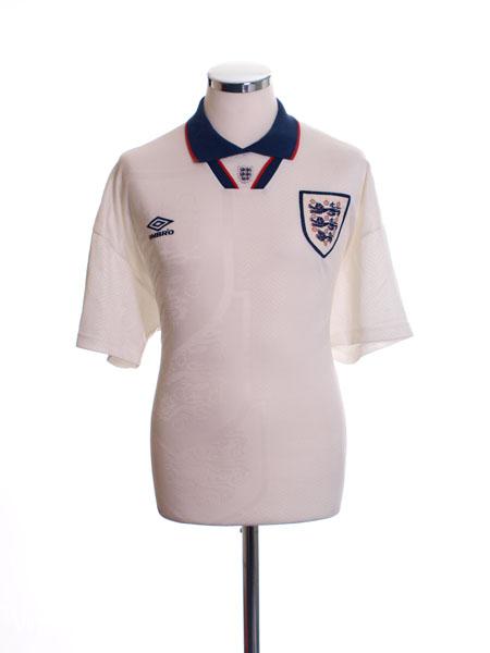 1993-94 England Home Shirt M