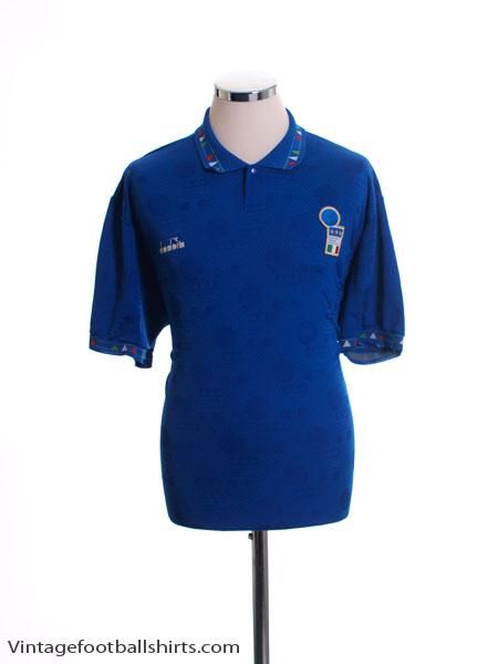 1993-94 Italy Home Shirt XL