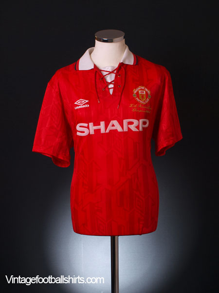 48d8cfe13 1993-94 Manchester United 'Premier League Champions' Home Shirt M ...