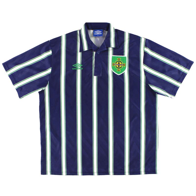 1993-94 Northern Ireland Umbro Away Shirt L
