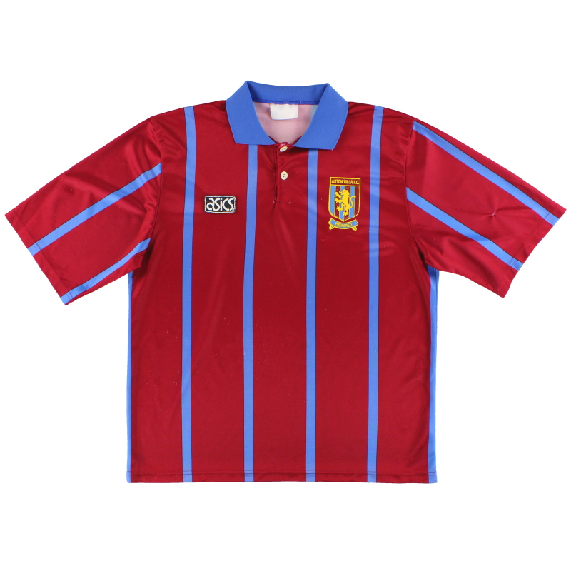 1993-95 Aston Villa Asics Home Shirt L