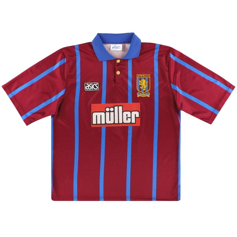1993-95 Aston Villa Asics Home Shirt L