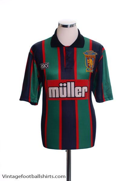 1993-95 Aston Villa Away Shirt 'Coca Cola Cup Final Winners' M