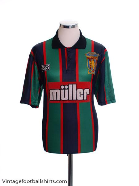 1993-95 Aston Villa Away Shirt 'Coca Cola Cup Final Winners' XL
