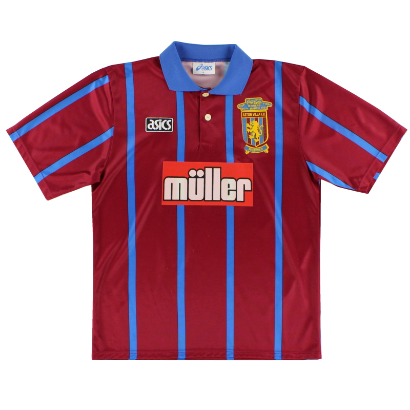 1994 Aston Villa 'Coca Cola Cup Winners' Home Shirt M