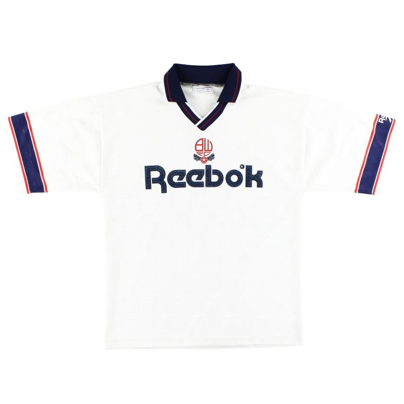 1993-95 Bolton Reebok Home Shirt M