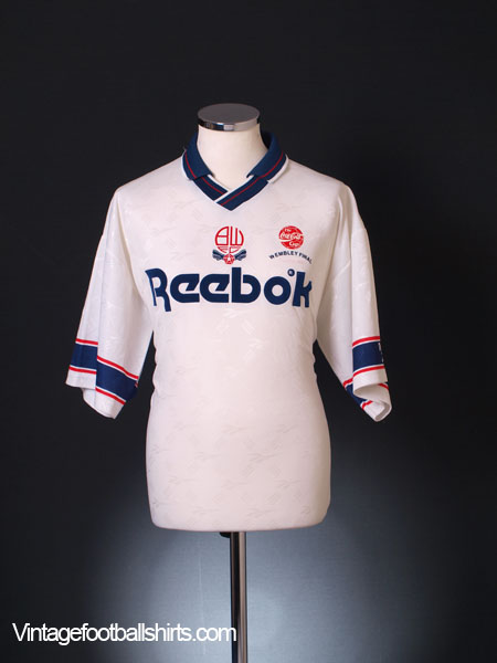 1993-95 Bolton 'The Cola-Cola Cup Final' Home Shirt L