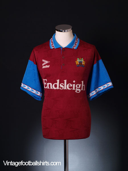 1993-95 Burnley Home Shirt L