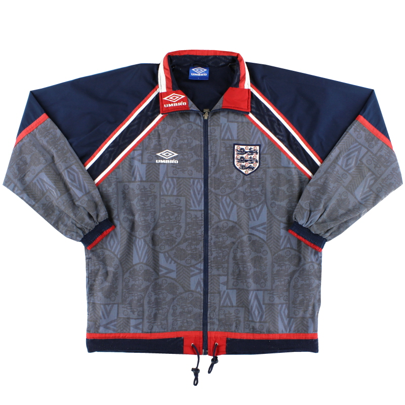 1993-95 England Umbro Track Jacket L