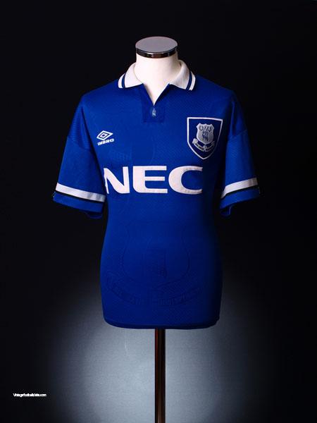 1993-95 Everton Home Shirt L