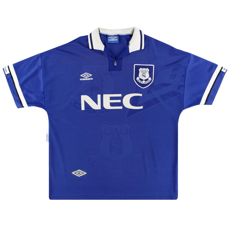 1993-95 Everton Umbro Home Shirt L