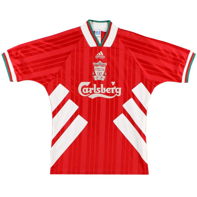 1993-95 Liverpool adidas Home Shirt M/L