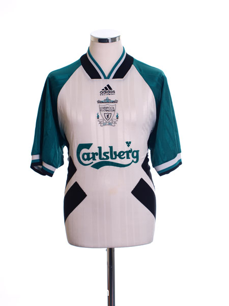 7374b117b 1993-95 Liverpool Away Shirt Barnes  10 L for sale