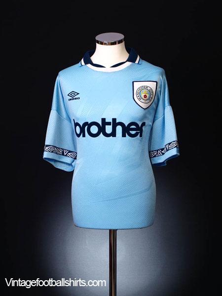 1993-95 Manchester City Home Shirt *BNWT* L