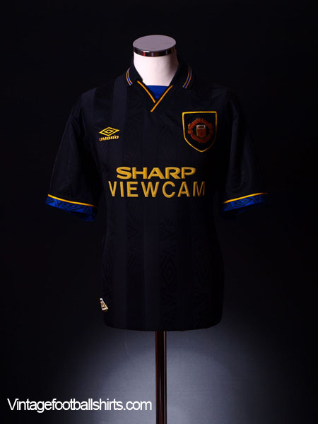 1993-95 Manchester United Away Shirt M