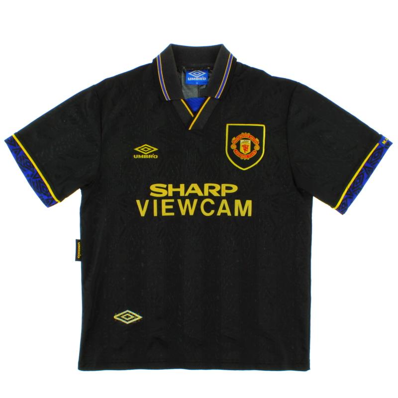 1993-95 Manchester United Away Shirt *As New* XXL