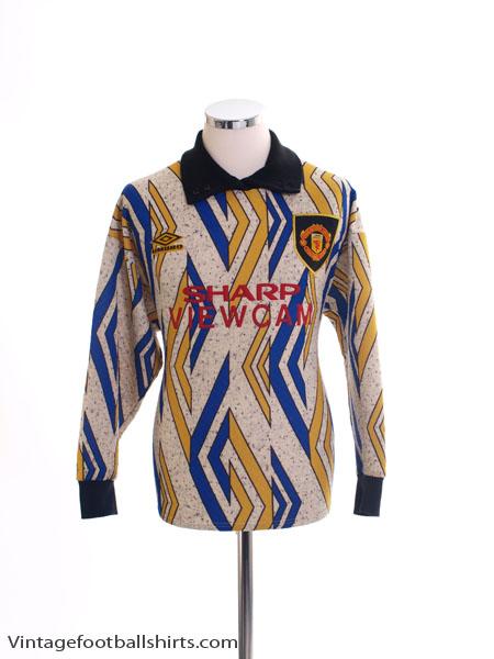 1993-95 Manchester United Goalkeeper Shirt S