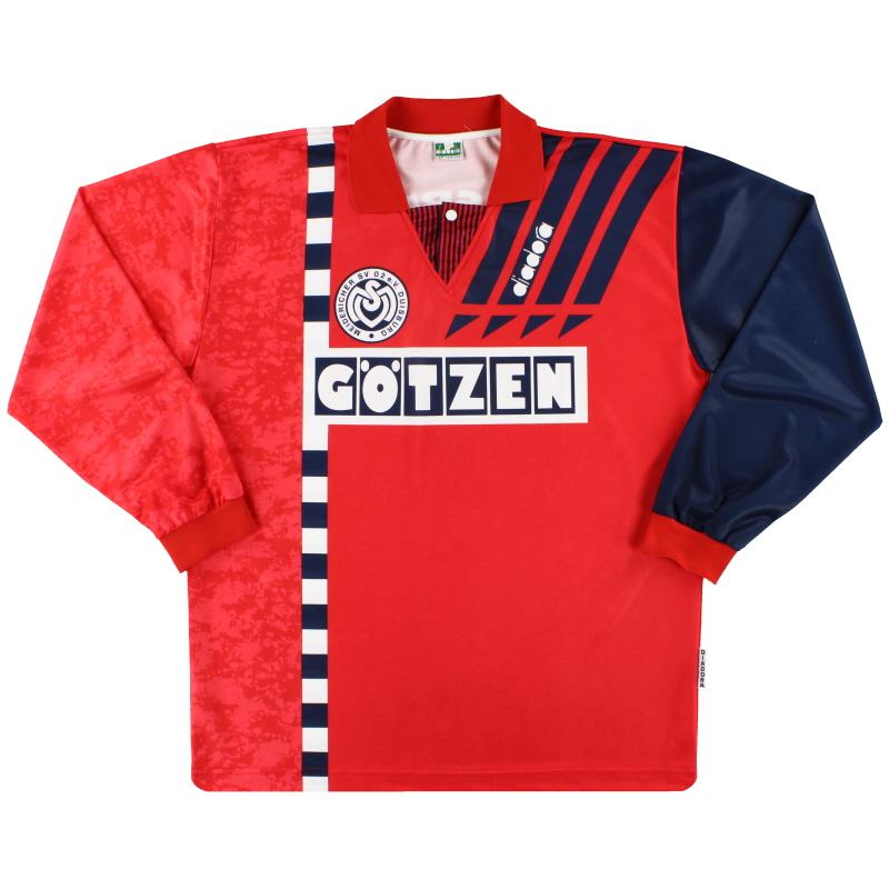1993-95 MSV Duisburg Diadora Away Shirt L/S XL