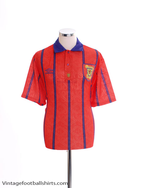 1993-95 Scotland Away Shirt *Mint* S