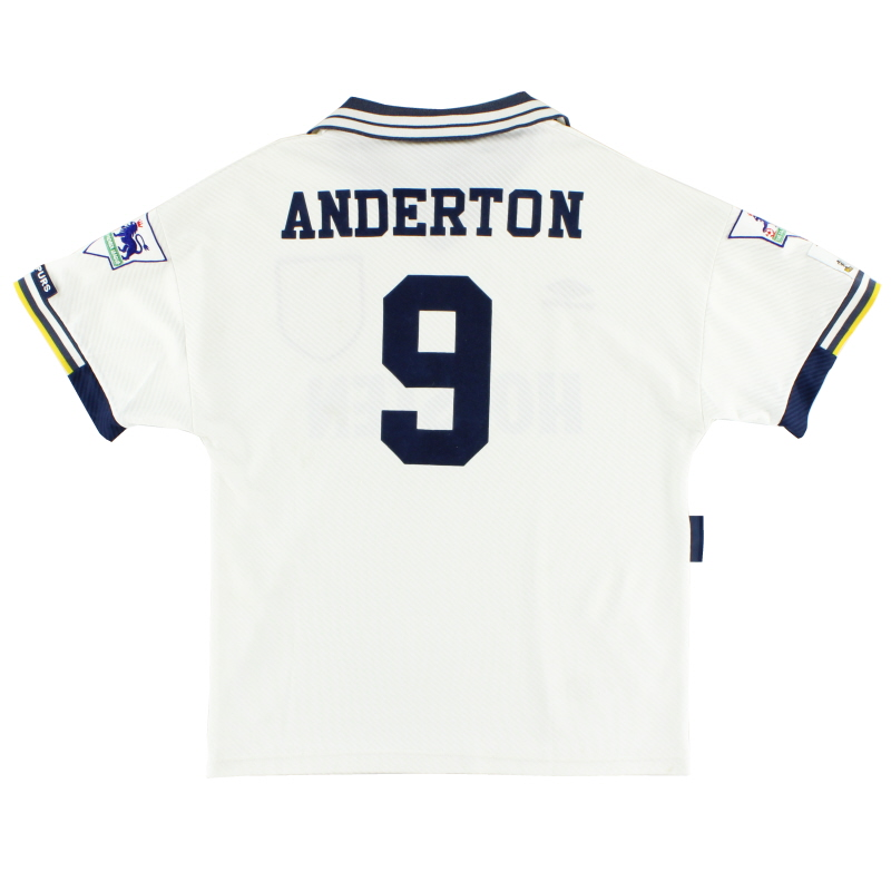 1993-95 Tottenham Home Shirt Anderton #9 M
