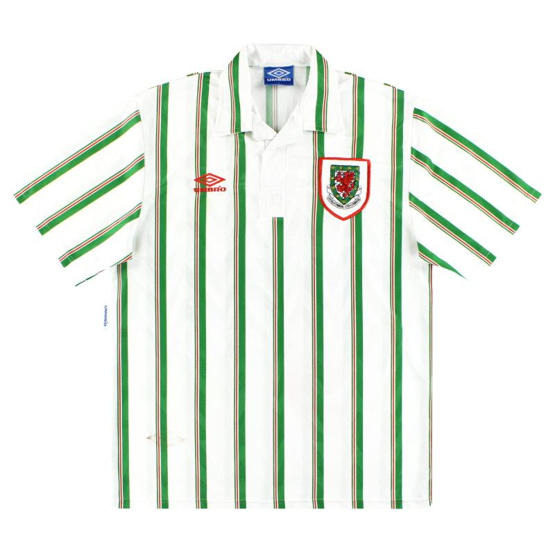 1993-95 Wales Umbro Away Shirt L