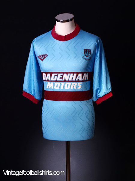 1993-95 West Ham Away Shirt XXL