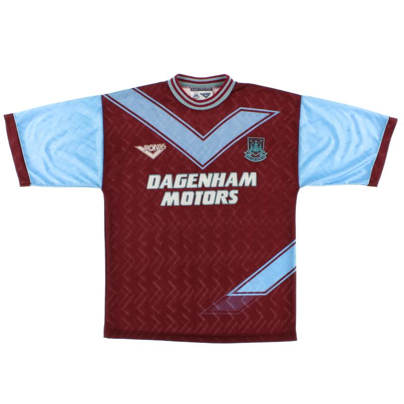 1993-95 West Ham Pony Home Shirt L