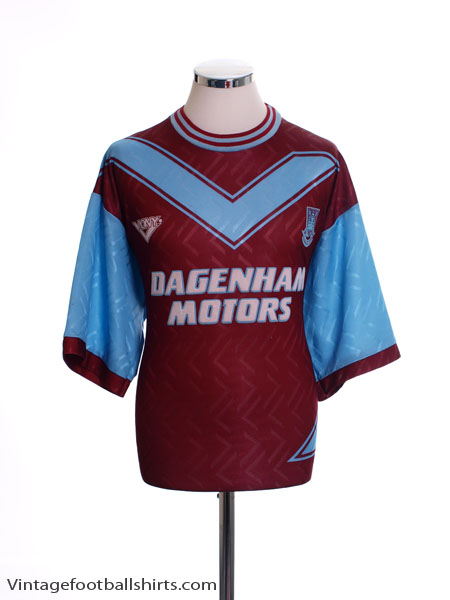 1993-95 West Ham Home Shirt S