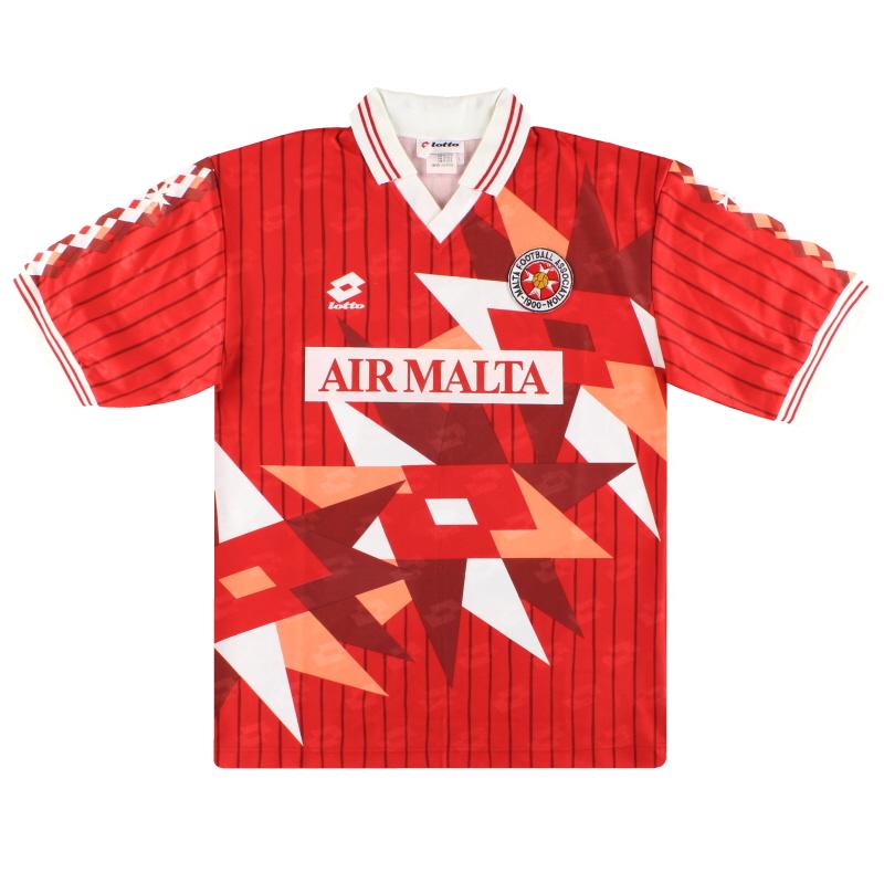 1993 Malta Lotto Match Issue Home Shirt #11 L