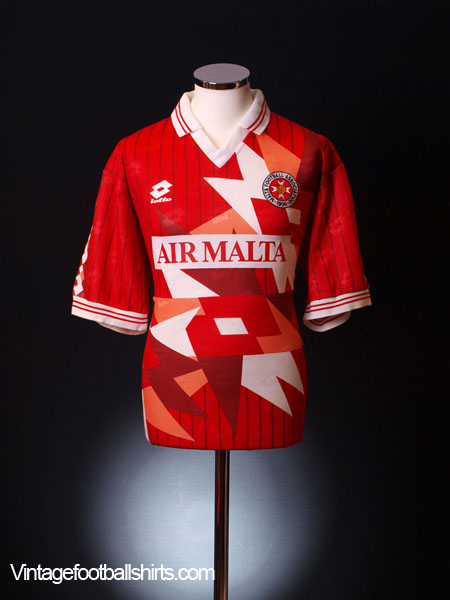 1993 Malta Match Worn Home Shirt #18 L