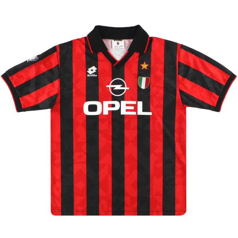 1994-95 AC Milan Lotto Home Shirt XL