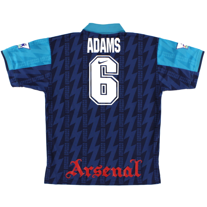 1994-95 Arsenal Away Shirt Adams #6 L