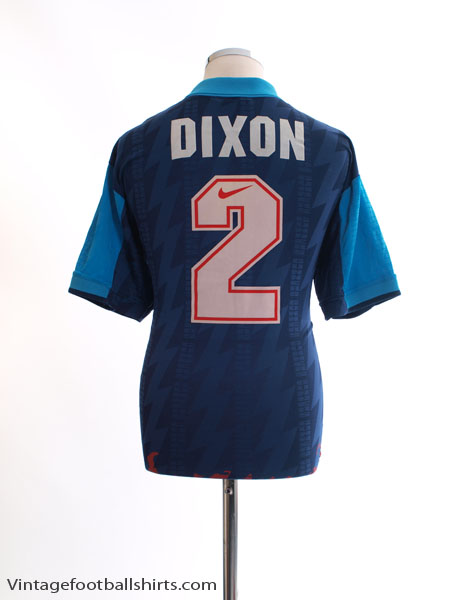 1994-95 Arsenal Away Shirt Dixon #2 L