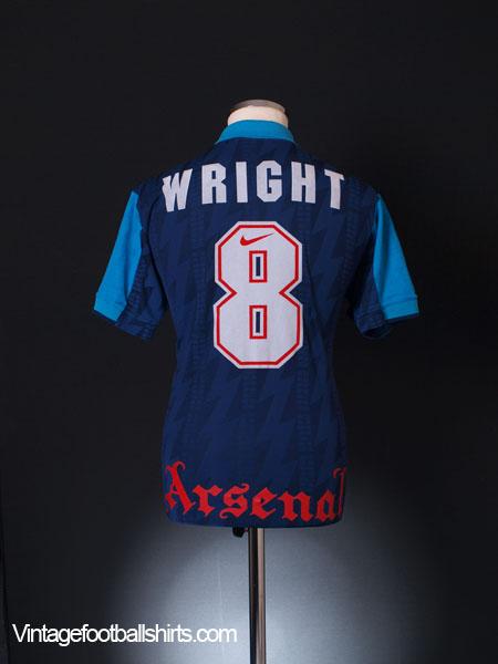 quality design c61d9 e555d 1994-95 Arsenal Away Shirt Wright #8 S for sale