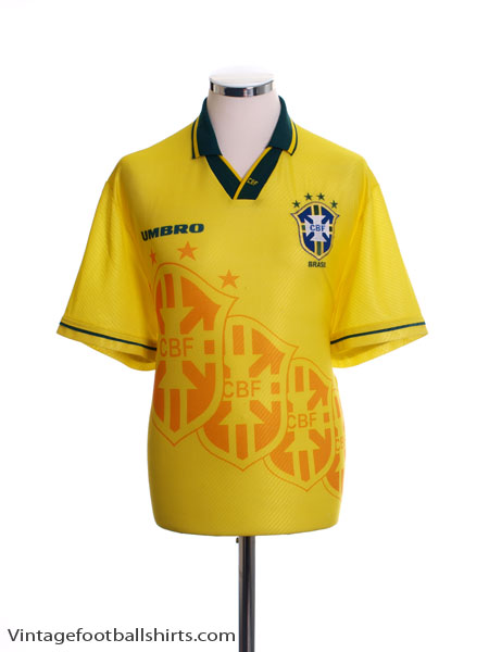 1994-95 Brazil Home Shirt *Mint* L