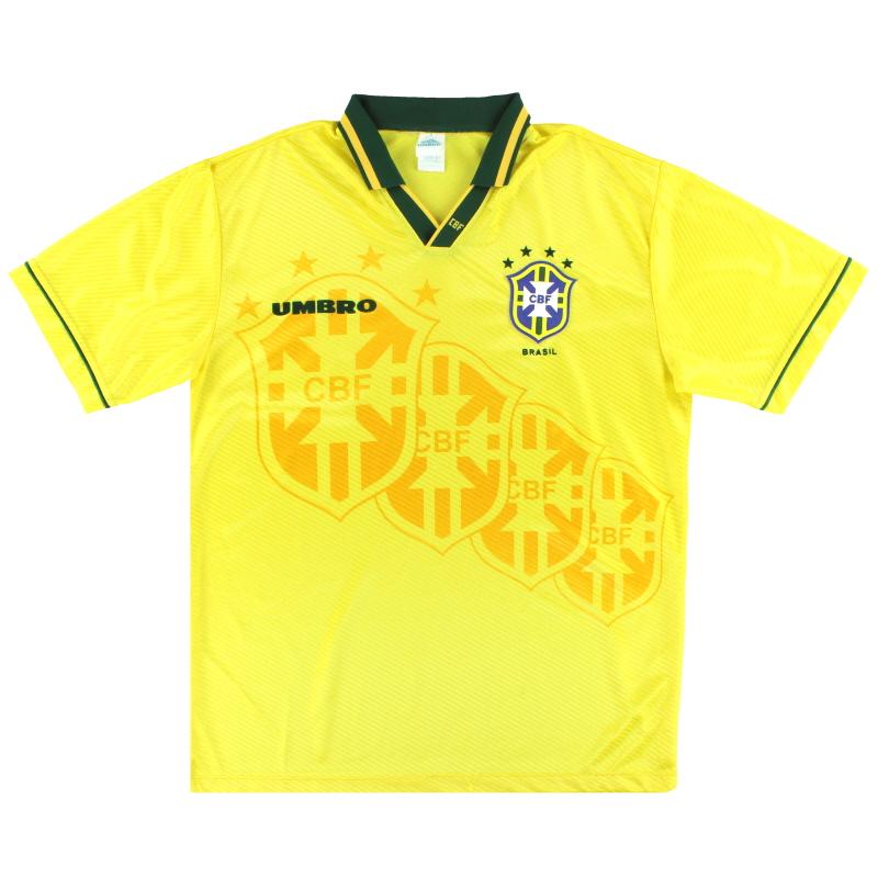 T-Shirts 1994-95 Brazil Umbro Home Shirt XL