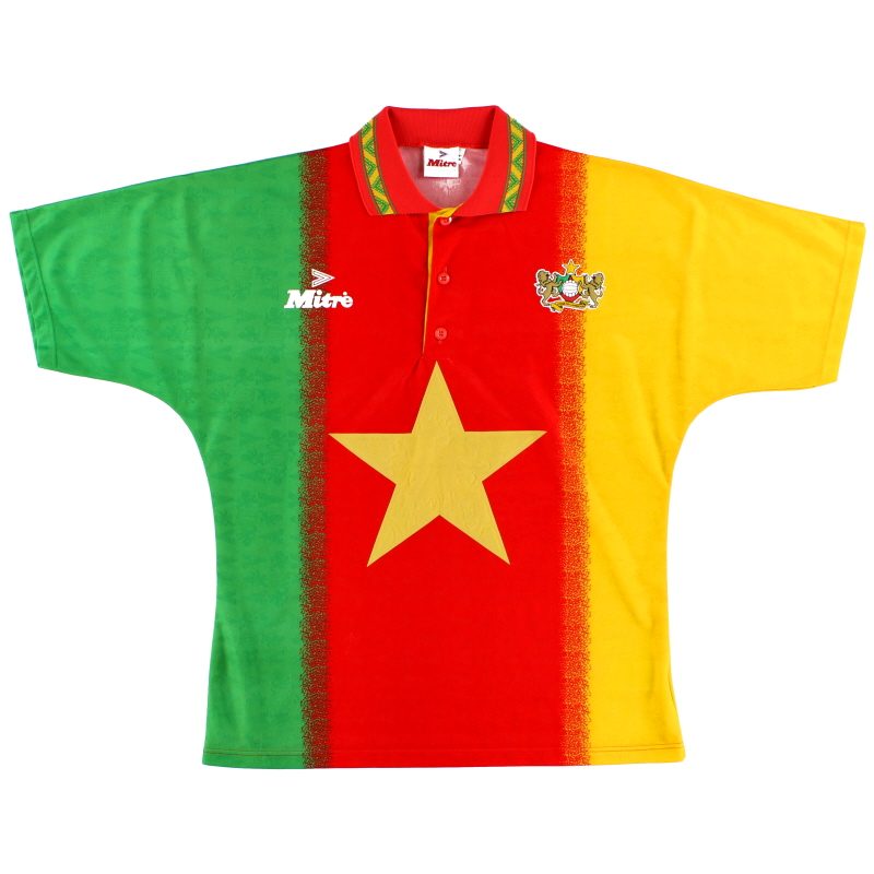 1994-95 Cameroon Mitre Home Shirt L