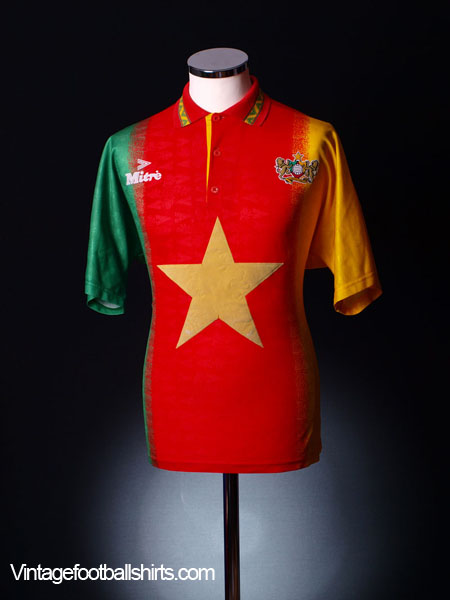 1994-95 Cameroon Home Shirt L